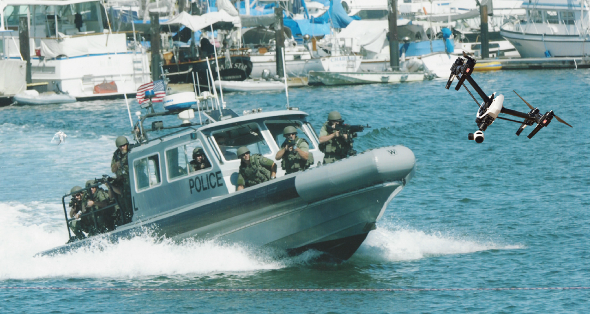 Police-Boat-with-Drone